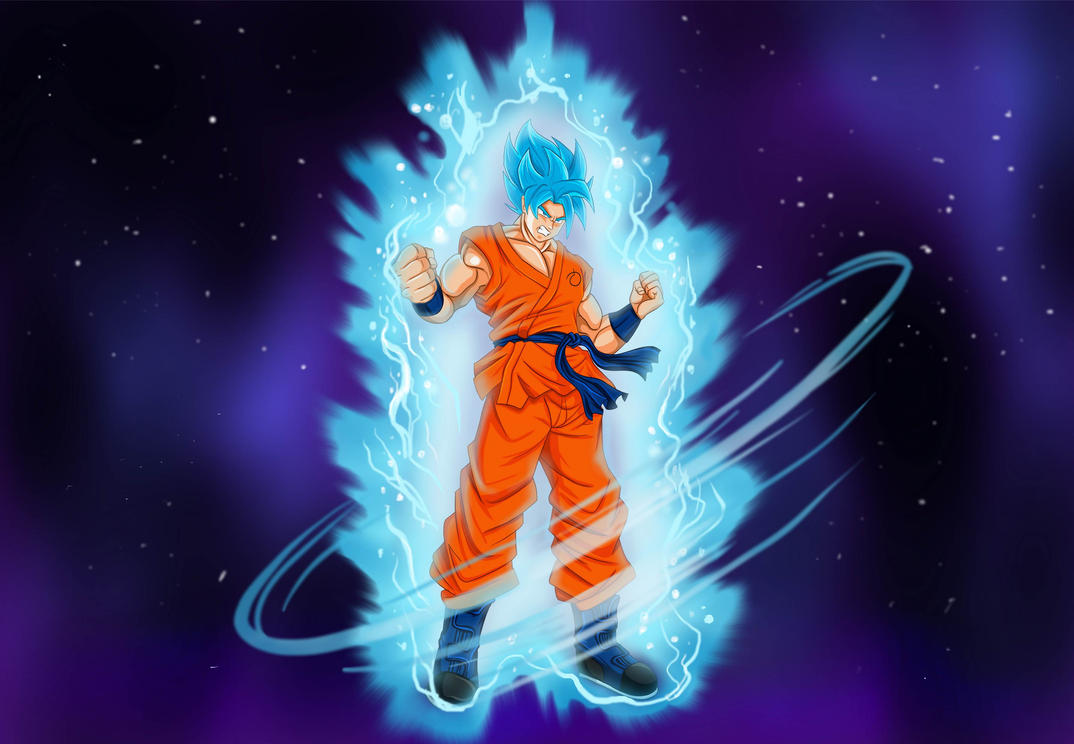 Goku Super Sayan Blue by EdgarElo-Him