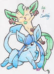 Glaceon and the Retarded one