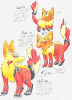 Fake PKMN-Fire starters by PachirisuLuva