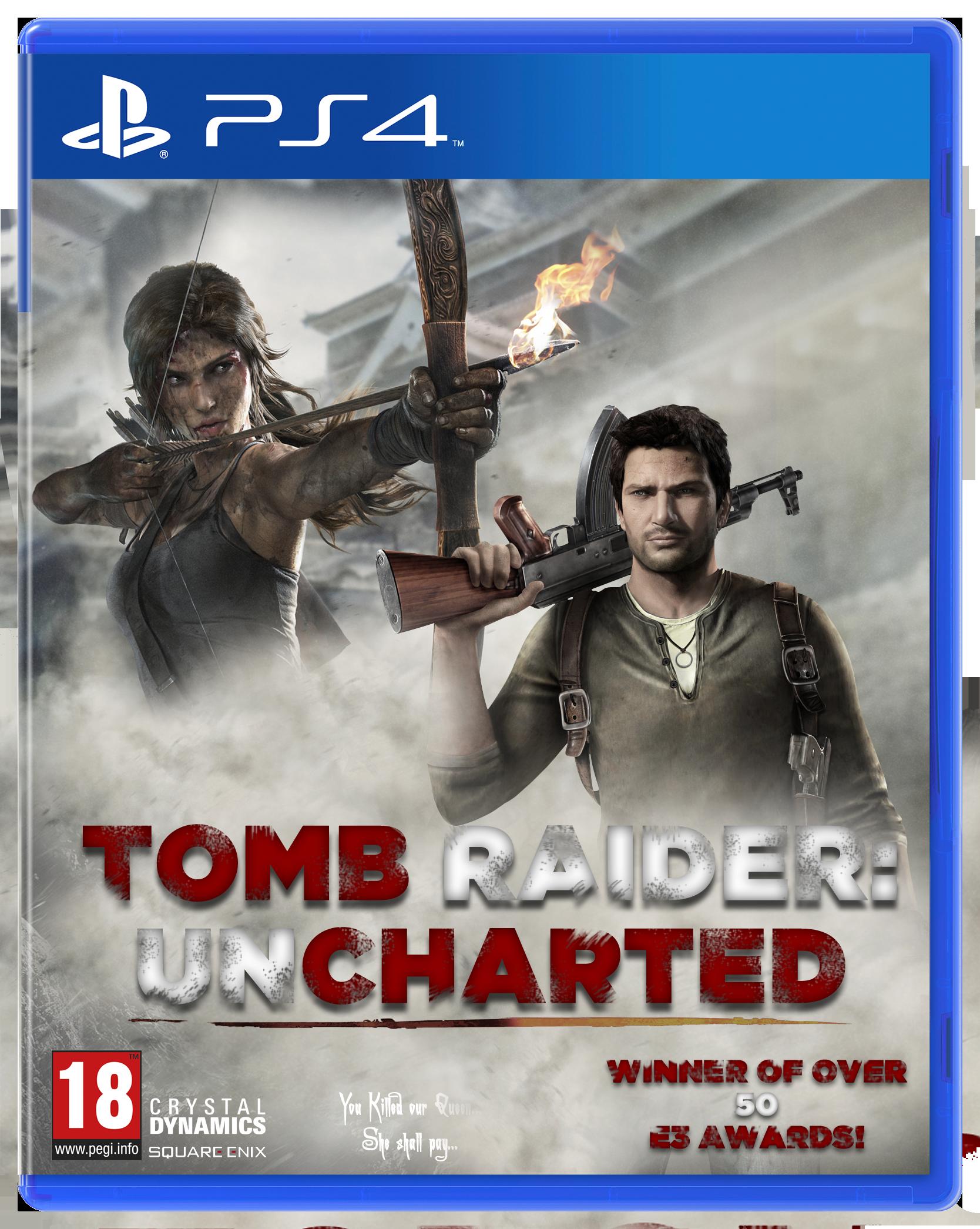 TOMB RAIDER: UNCHARTED - Custom PS4 Box Art by ...