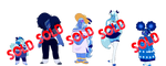 Zoo Paypal Adopts - Holly Blue Agates (CLOSED) by Gaartes