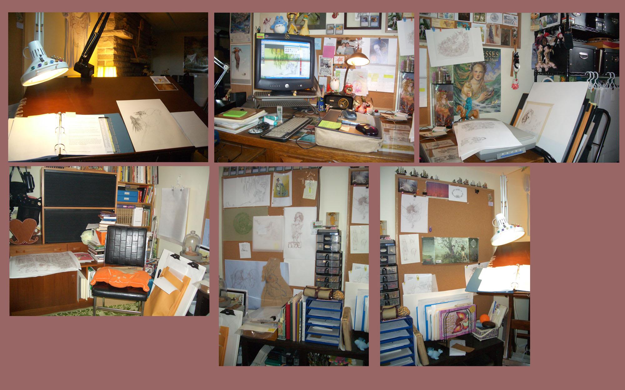 My Messy Studio by betta-girl