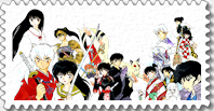 Stamp - Inuyasha whole gang by Angelhart79