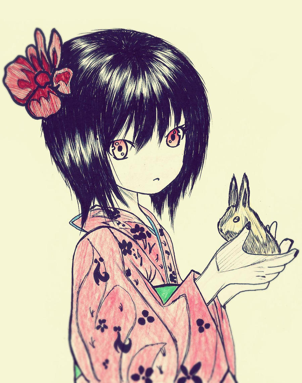 oriental girl by carldraw
