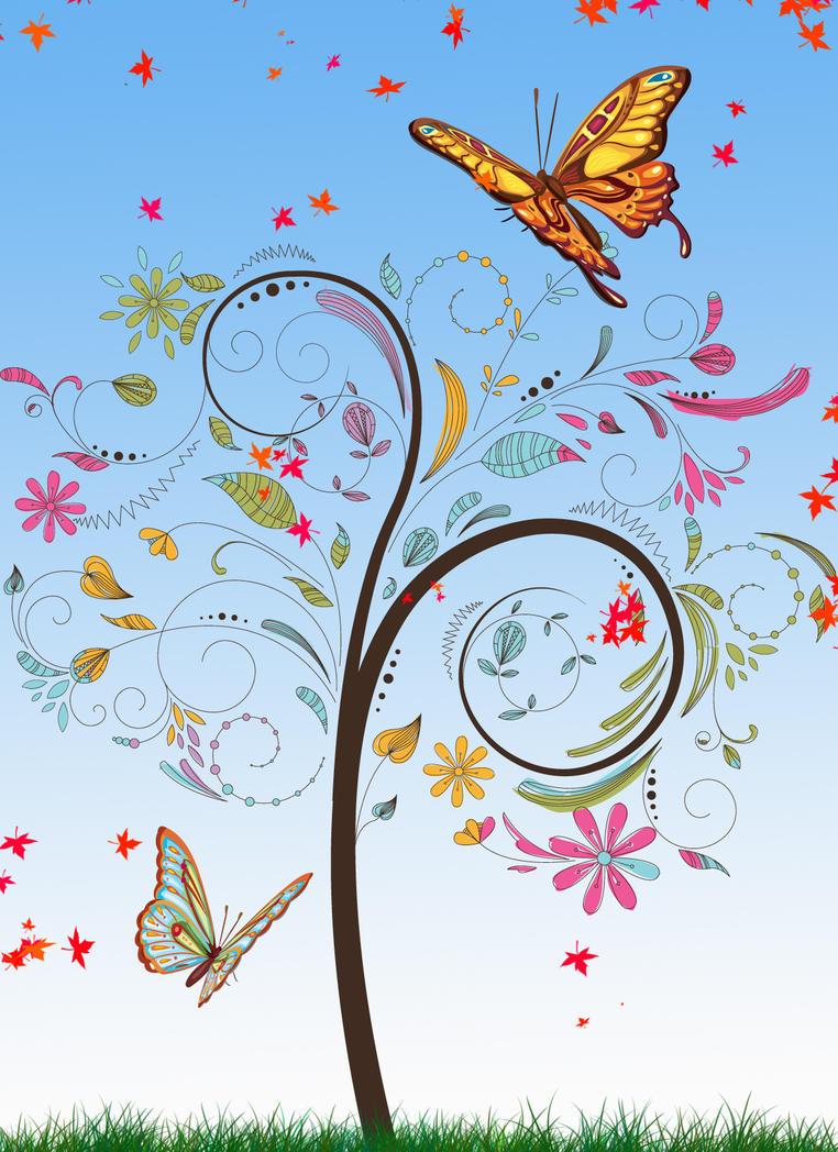 butterfly by carldraw