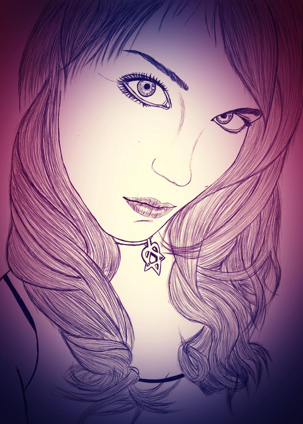 girl by carldraw