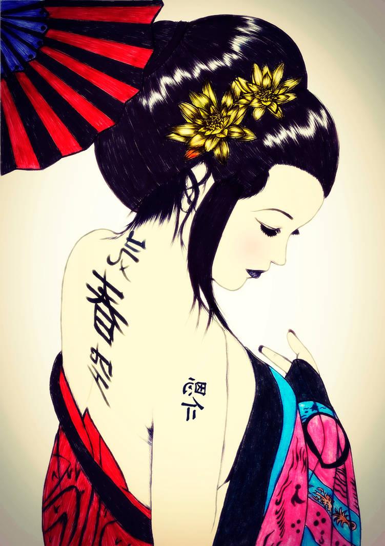 Geisha by carldraw