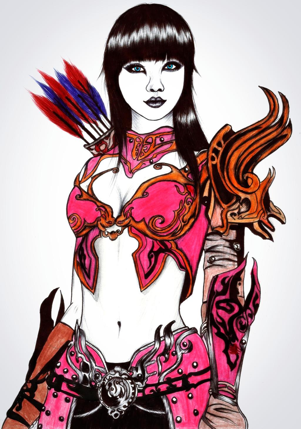 Warrior girl 2 by carldraw
