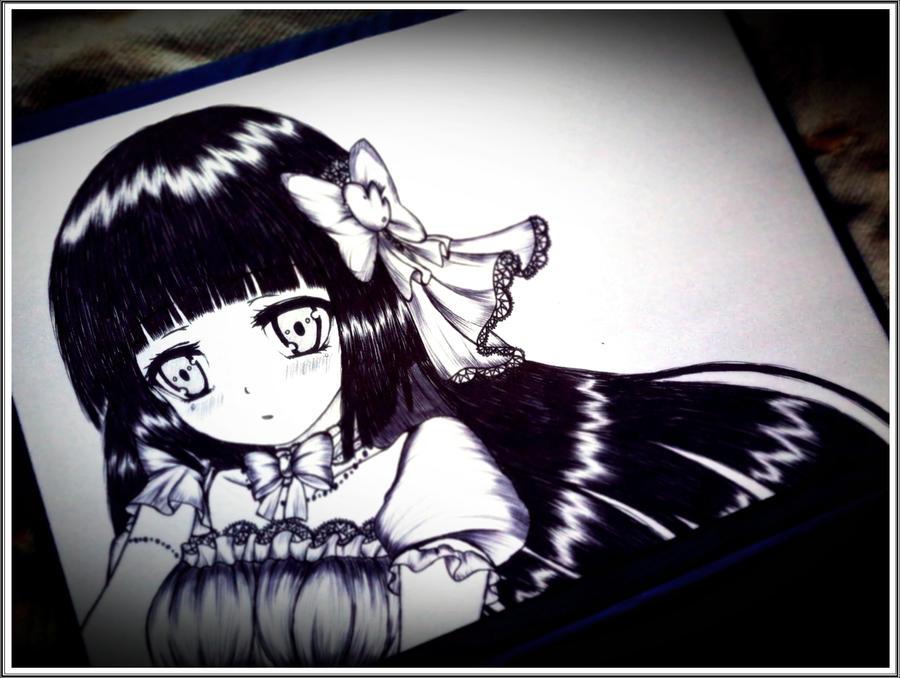 sad girl photo by carldraw