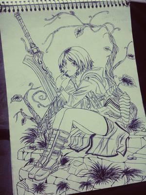 demon girl by carldraw