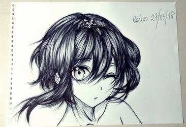 anime girl by carldraw