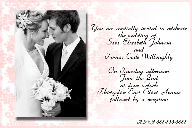 Sample wedding invitation by piinkylove19 on deviantart sample wedding invitation by piinkylove19 stopboris Gallery