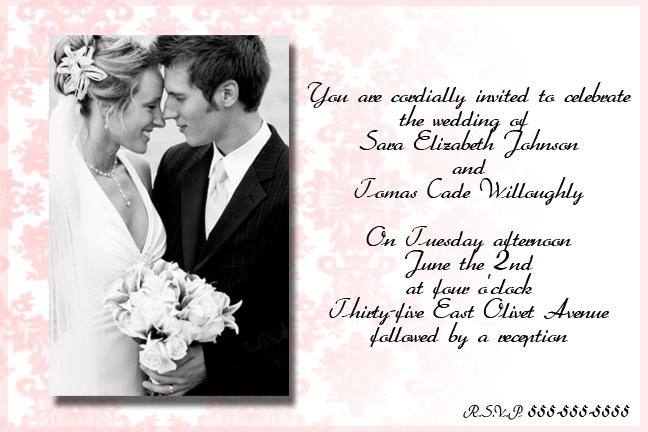 Sample Of A Wedding Invitation: Wedding Invitation By PiinkylOve19 On DeviantArt