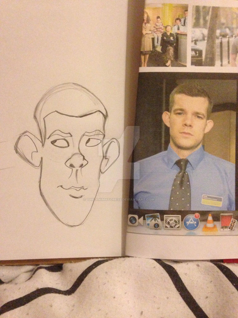 Russell Tovey Caricature by the-animatoress