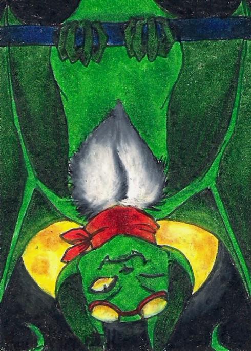 Bat ACEO by HappyChupacabra