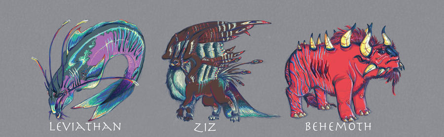 Leviathan  Ziz  and Be...