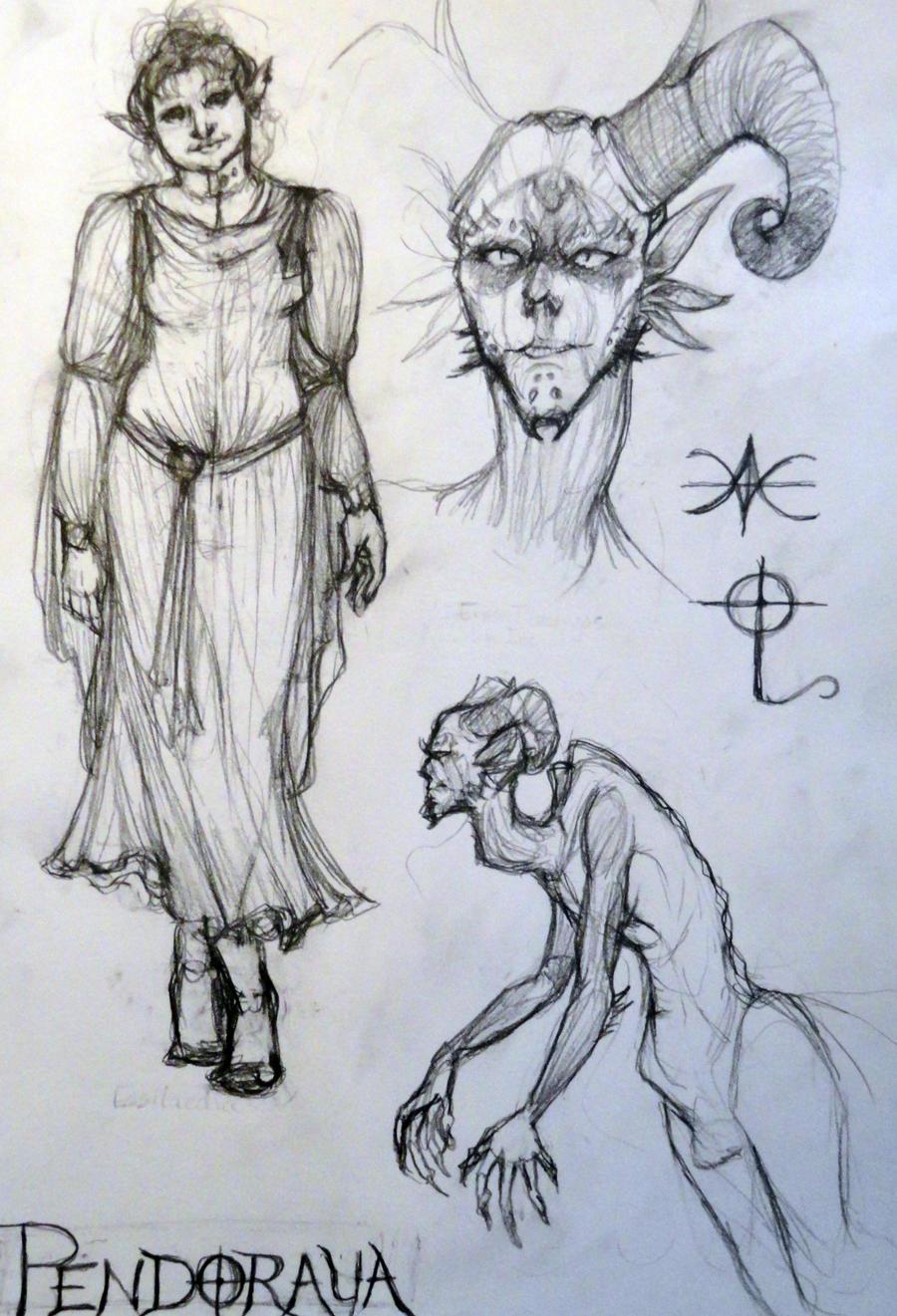 Essilaedia and Eros Tlectlyos concepts by HappyChupacabra