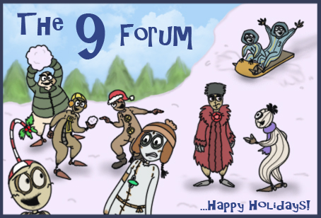 9 Forum Holiday Banner by Mad-But-Happy