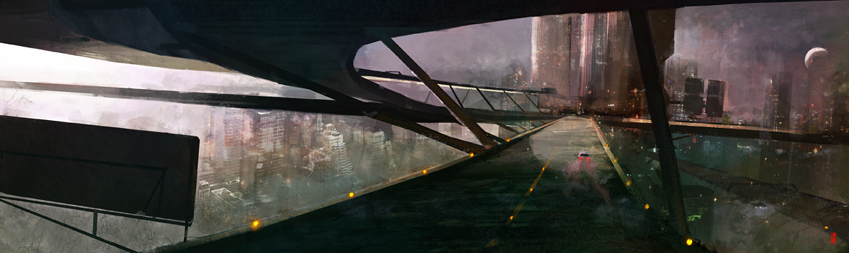 Sky City Speedpaint by TitusLunter
