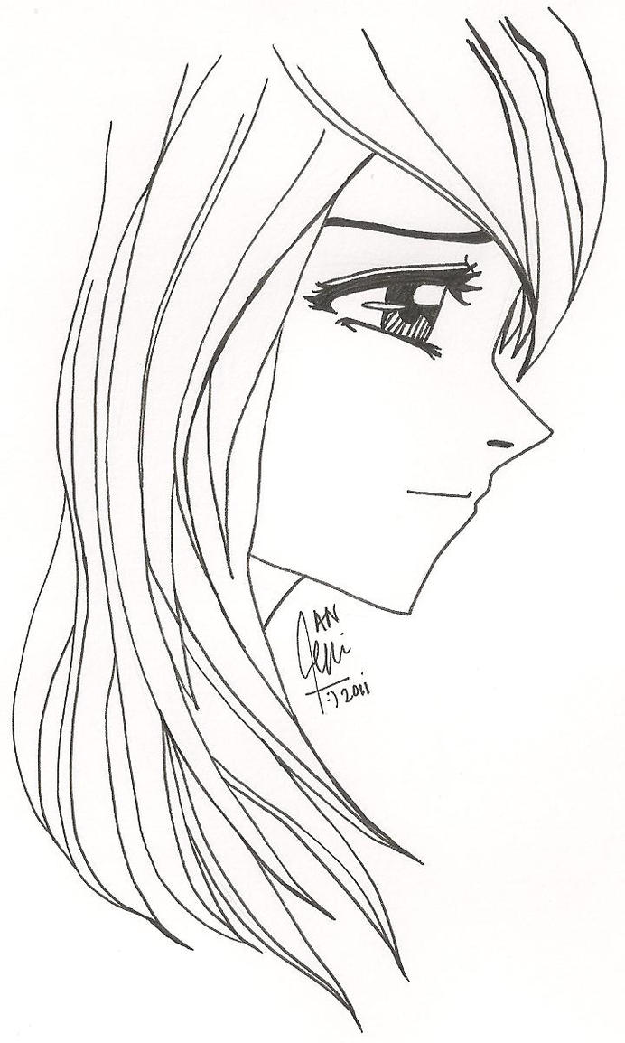 Side Face Line Drawing : Yashitanao teni chan or yamashita naoko xd deviantart