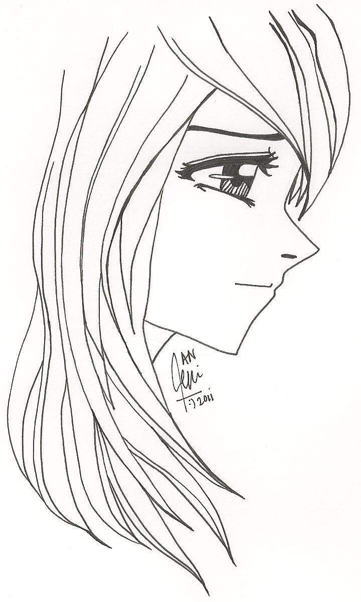 Side Face Line Drawing : Side face girl by yashitanao on deviantart