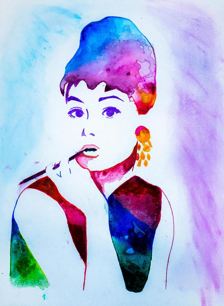 Audrey Watercolor by ART-JL