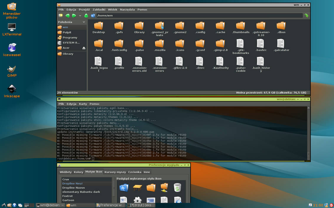 Linux LXDE Debian by xeng on DeviantArt