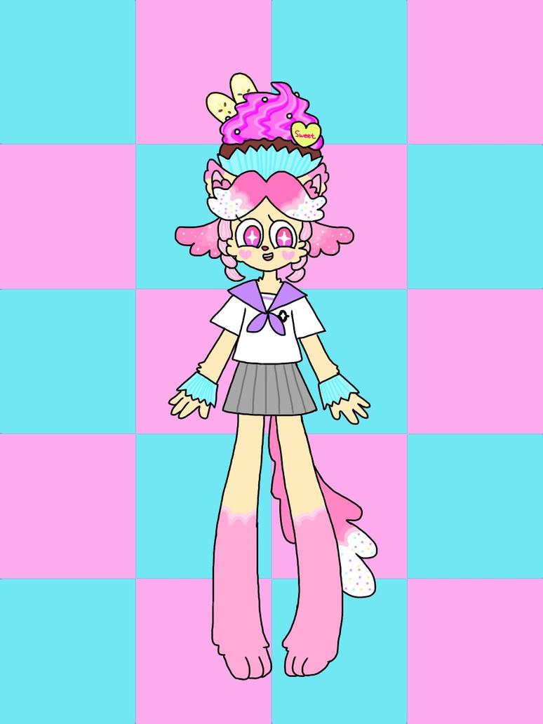 Cupcake kemono girl by honyaunicorn