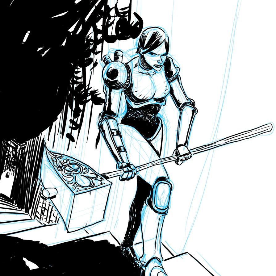 Hammer Maiden's Climb by voraciousink
