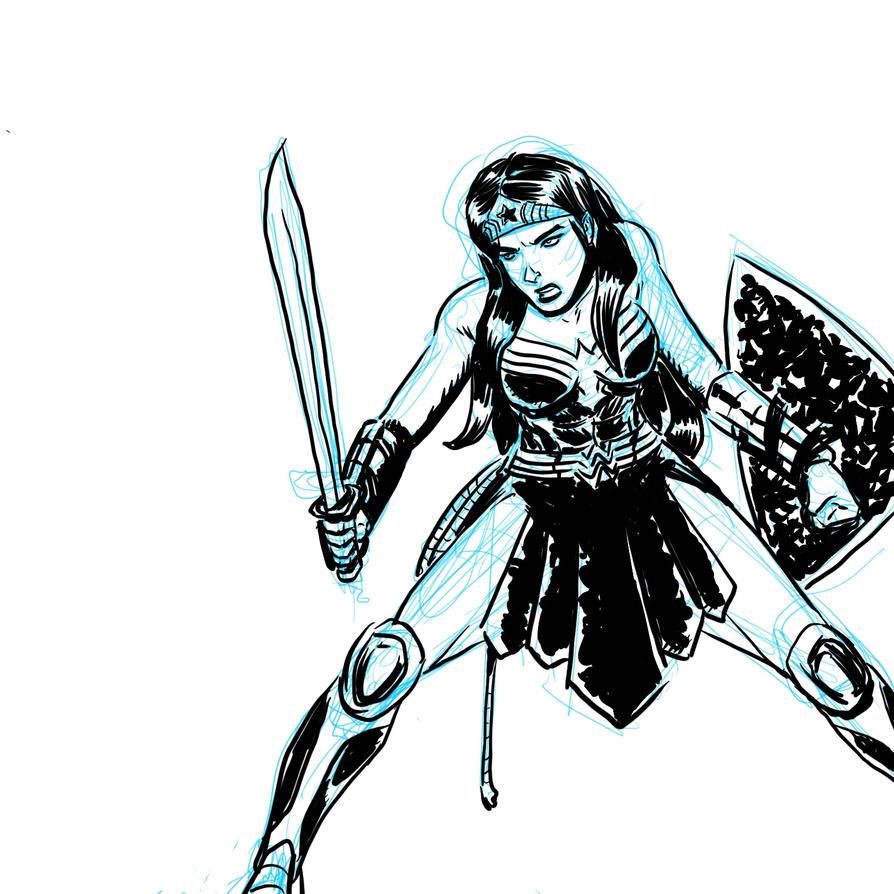 Diana Prince by voraciousink