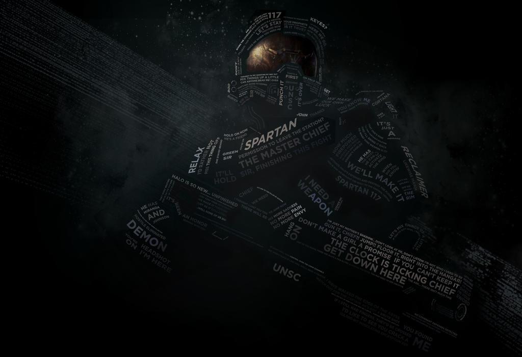 Halo 4 Quotes Quotesgram: HALO Type Portrait By Etrav689 On DeviantArt