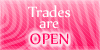 Trades are open stamp pink by PinkScooby54