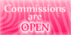 Commission are open stamp pink by PinkScooby54
