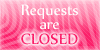 Requests are closed stamp pink by PinkScooby54