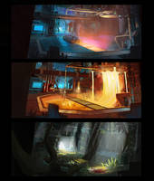 Ratchet and Clank: Gold Factory Concept