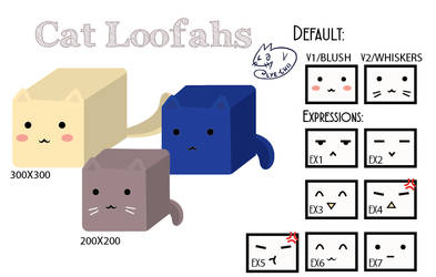 Cat Loofahs [CLOSED]
