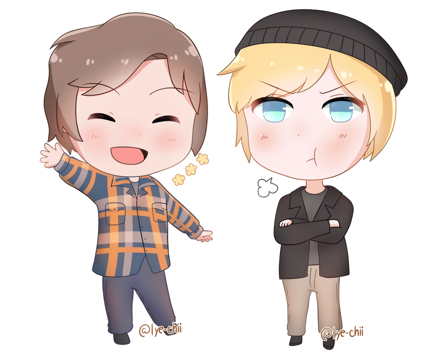 Jonny and Alex Simple Chibi by Lye-chii