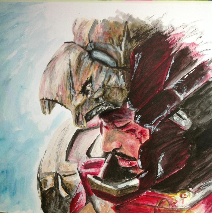 Ironman 3 acrylic by samui153