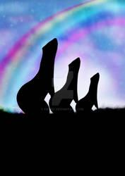 Rainbow Bridge  Ferret Silhouettes