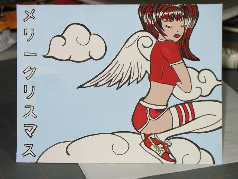 Christmas Angel in Ice Creams by RedPikachu