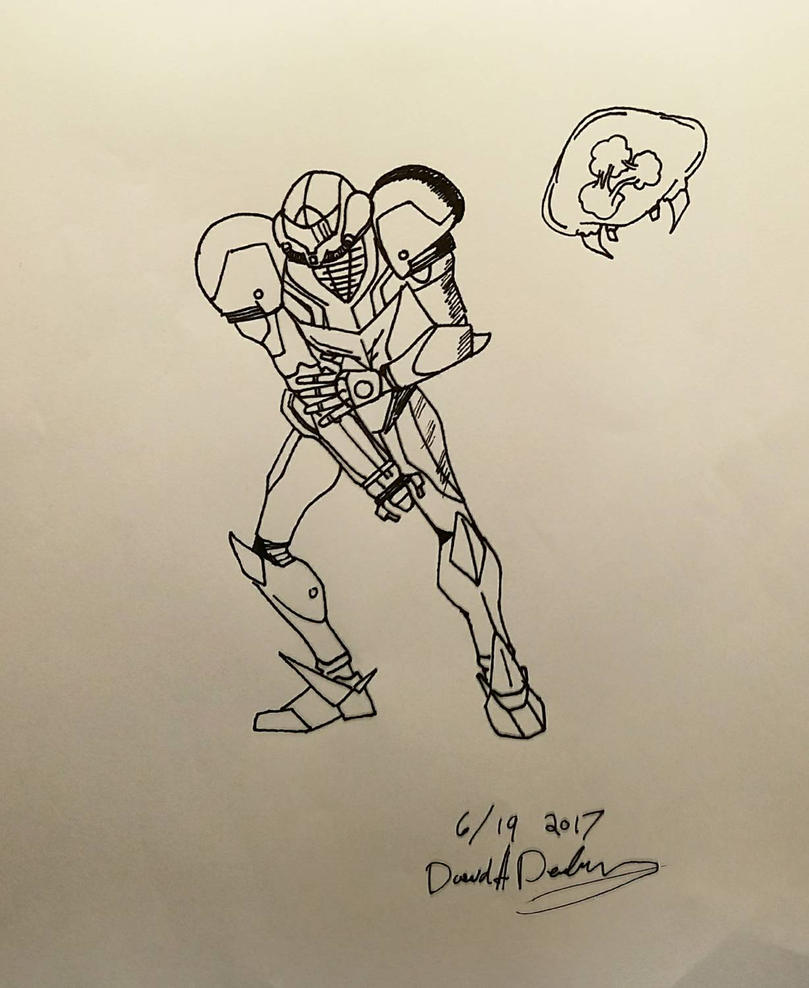 Samus from Metroid by dave-d-art