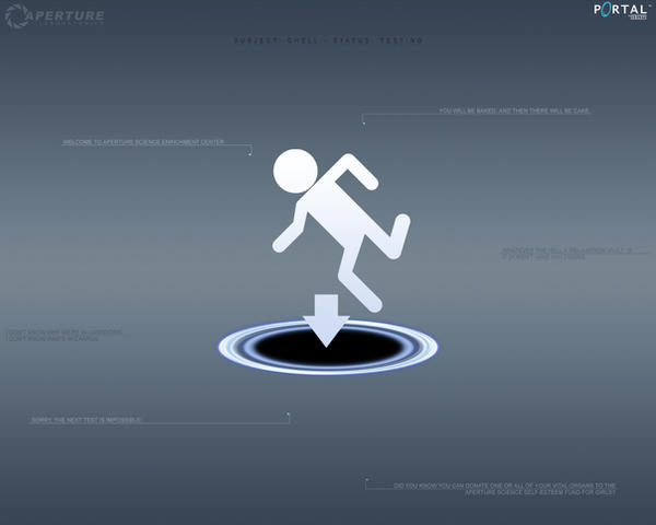 portal 2 wallpaper chell. Submitted: October 2, 2007