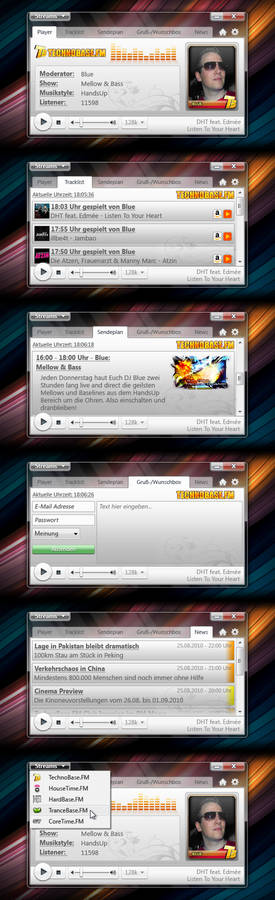 WeaReoNe.FM Player UI