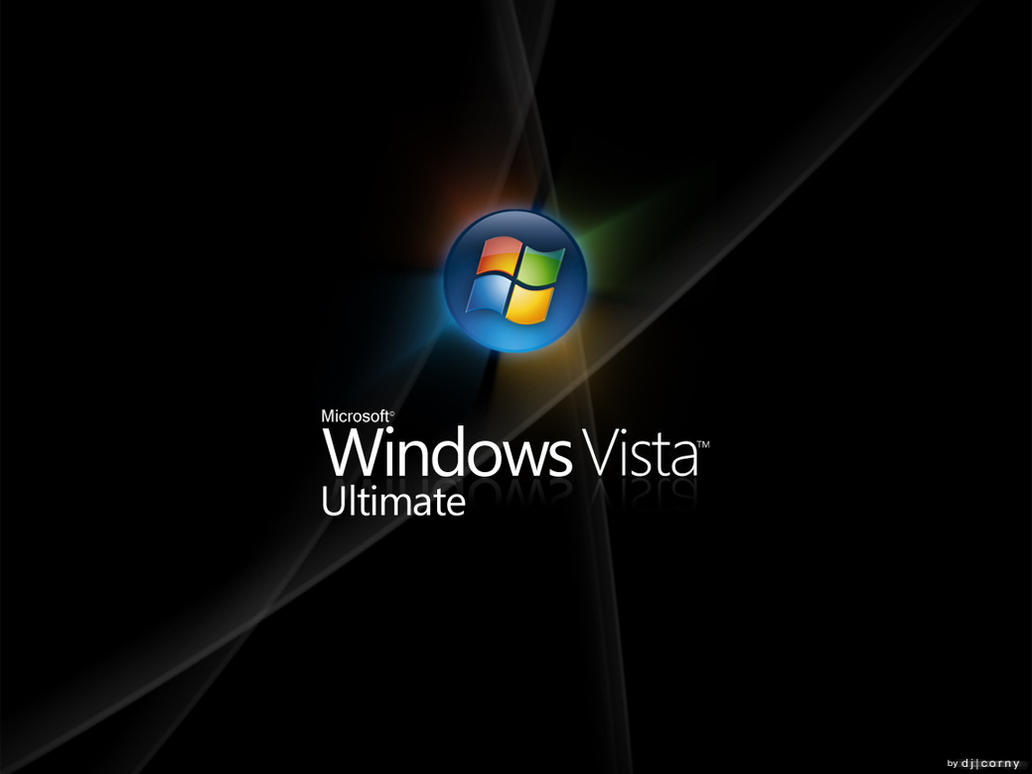 Vista Ultimate Wallpaper Black by dj-corny