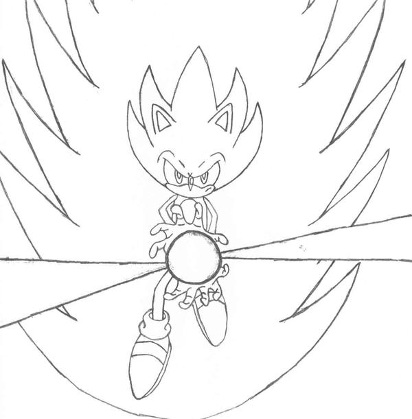 Super classic sonic coloring pages