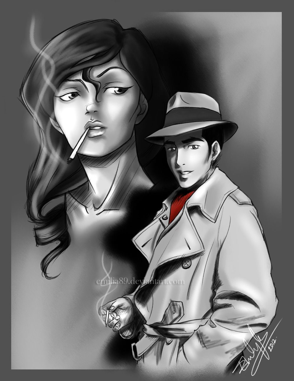 Makorra Week :: Noir by Emilia89