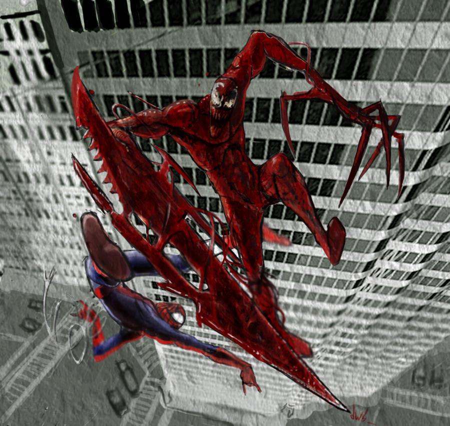 Spiderman vs carnage drawings - photo#12