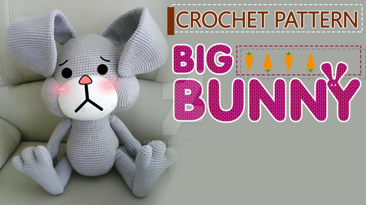 Amigurumi Bunny Free Patterns : Giant crochet bunny free pattern by abaoabao on deviantart