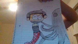 Mermaid Nobita tied up