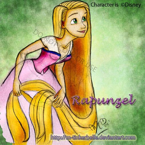 Disney Rapunzel by M-Tinkerbelle